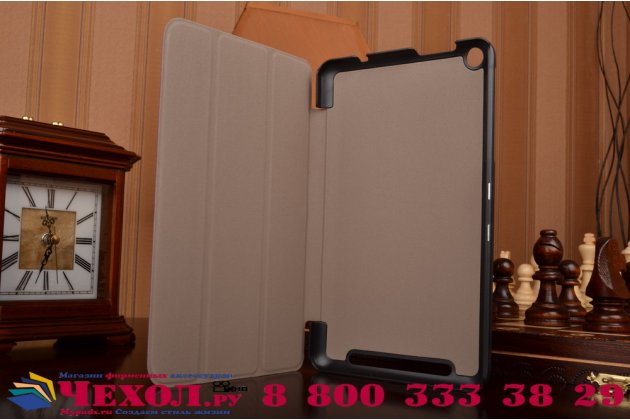 """Фирменный умный чехол-книжка самый тонкий в мире для Acer One 8 B1-820/821/B1-830 """"Il Sottile"""" фиолетовый кожаный"""