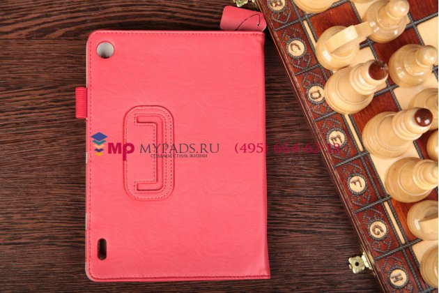 """Фирменный чехол-обложка для Acer Iconia Tab A1-810/811 красный натуральная кожа """"Prestige"""" Италия"""