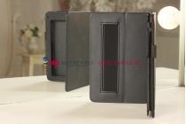Фирменный чехол-обложка для Acer Iconia Tab B1-710 черный кожаный