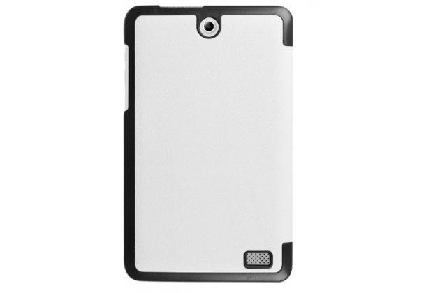 """Фирменный умный чехол самый тонкий в мире для планшета Acer Iconia One 8 B1-850-K0GL (NT.LC4EE.002) 8.0 """"Il Sottile"""" белый кожаный"""