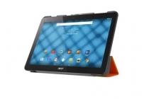 """Фирменный умный тонкий чехол для  Acer Iconia One B3-A10 / B3-A11 10.1/ Android 5.1 / NT.LB6EE.003 / MediaTek MT8151 1.7 GHz  """"Il Sottile"""" оранжевый пластиковый"""