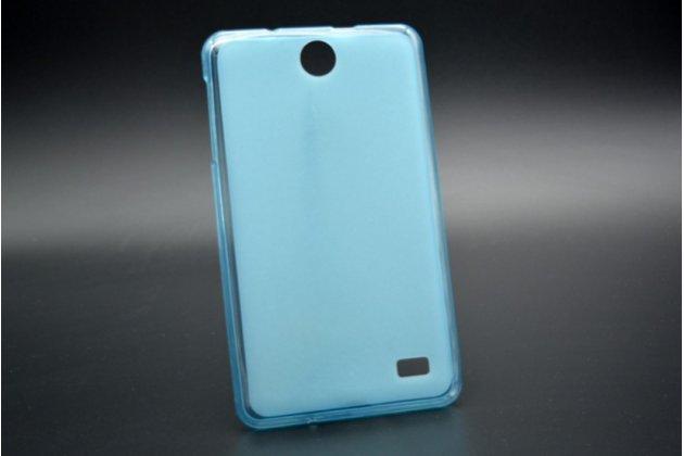 """Фирменная ультра-тонкая полимерная из мягкого качественного силикона задняя панель-чехол-накладка для планшета Acer Iconia Talk 7 B1-723 3G 7.0"""" голубая"""