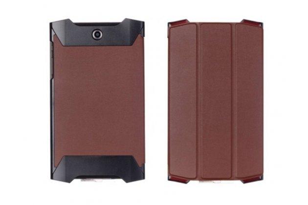 """Фирменный умный тонкий легкий чехол для Acer Predator 8 GT-810 """"Il Sottile"""" коричневый пластиковый"""
