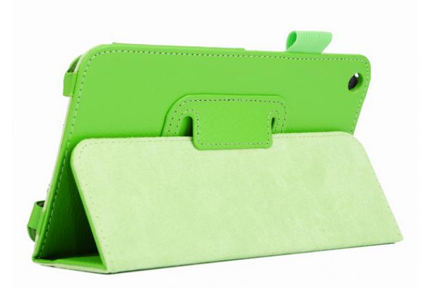 Чехол для Acer Iconia Talk S A1-724 зеленый кожаный