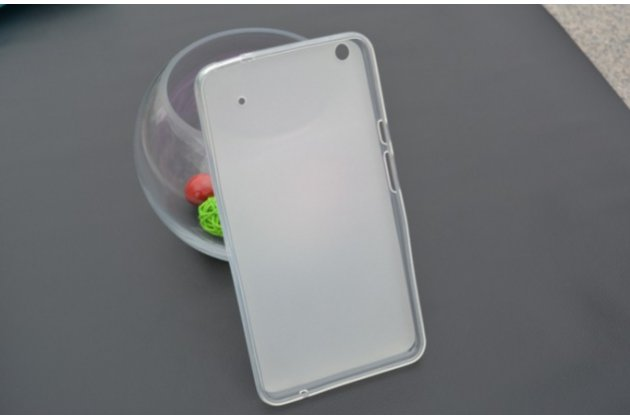 """Фирменная ультра-тонкая полимерная из мягкого качественного силикона задняя панель-чехол-накладка для планшета Acer Iconia Talk S A1-724 (NT.L7ZEE.001 / Q6YQ) 7.0"""" серая"""