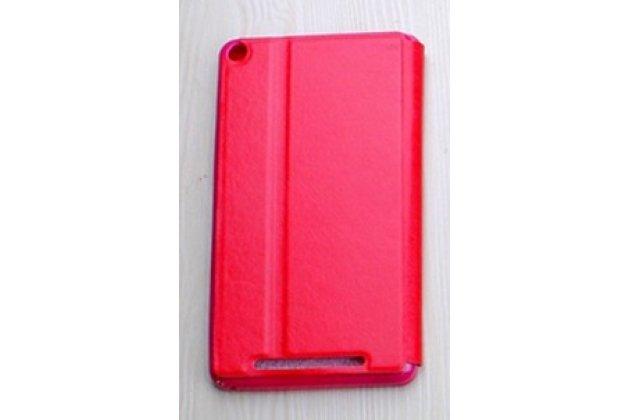 """Фирменный умный тонкий легкий чехол для Acer Iconia One 7 Hd B1-760HD (K057 / NT.LB1EE.004) """"Il Sottile"""" красный пластиковый"""