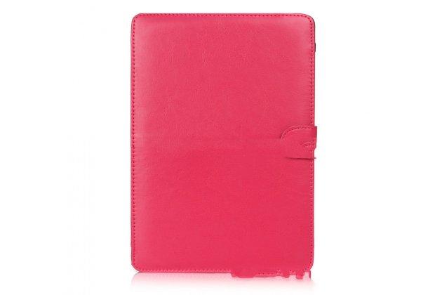 Фирменный премиальный чехол-обложка-футляр-сумка с подставкой и вырезом под тачпад для Apple MacBook Air 11 Early 2015 (MJVM2/ MJVP2) 11.6 из из импортной кожи розовый