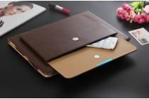 """Фирменный чехол с отделением под клавиатуру для iPad Pro 12.9 из качественной импортной кожи тематика """"Ретро"""" коричневый"""