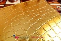 Фирменный чехол для Айпад Эйр 2 кожа крокодила золотой. Только в нашем магазине. Количество ограничено.