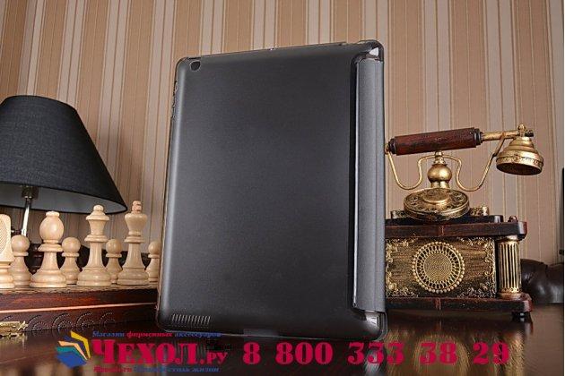 Фирменный чехол-обложка для iPad2/new iPad 3/iPad 4 ультра-тонкий черный кожаный