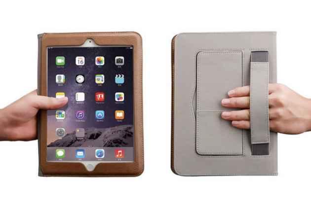 "Чехол-книжка для iPad Air 1 MD794/791/795/792785/788789796/793/987 RU/A с визитницей и держателем для руки темно-синий натуральная кожа ""Prestige"" Италия"