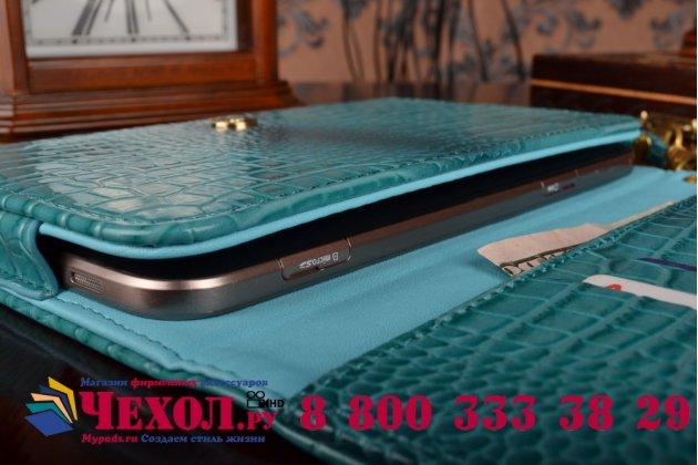 Фирменный роскошный эксклюзивный чехол-клатч/портмоне/сумочка/кошелек из лаковой кожи крокодила для планшетов Acer Iconia Tab A110/A111. Только в нашем магазине. Количество ограничено.