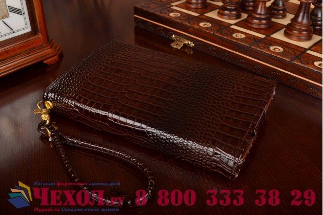 Фирменный роскошный эксклюзивный чехол-клатч/портмоне/сумочка/кошелек из лаковой кожи крокодила для планшетов Acer Aspire Switch 10 New (SW5-015). Только в нашем магазине. Количество ограничено.