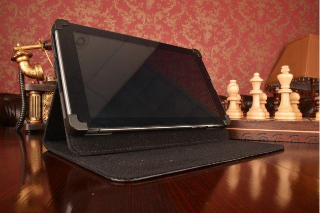 Чехол-обложка для планшета iPad 2 с регулируемой подставкой и креплением на уголки