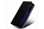 Фирменный чехол-книжка из качественной водоотталкивающей импортной кожи на жёсткой металлической основе для Huawei P10 Lite/ Nova Lite черный
