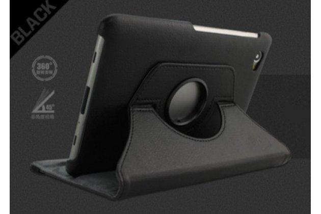 Чехол-поворотный-роторный для Samsung 7.7 P6800 черный кожаный