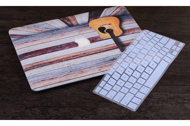 Фирменный ультра-тонкий пластиковый чехол-футляр-кейс для Apple MacBook 12 Early 2015 / 2016 / Mid 2017 ( A1534 / A1527) в комплекте с накладкой для клавиш ноутбука