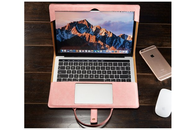 Фирменный оригинальный чехол-сумка для Apple MacBook 12 Early 2015 / 2016 / Mid 2017 ( A1534 / A1527) с отделением под клавиатуру кожаный