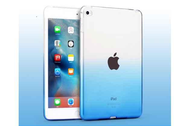 Фирменная ультра-тонкая полимерная задняя панель-чехол-накладка из силикона для iPad Air 2 прозрачная с эффектом дождя