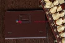 Чехол-обложка для Acer Iconia Tab A200/A201 коричневый кожаный