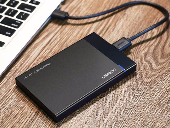 """Фирменный корпус Ugreen для внешнего жесткого диска Micro B USB 3.0 HDD Sata 2.5""""/ SSD"""
