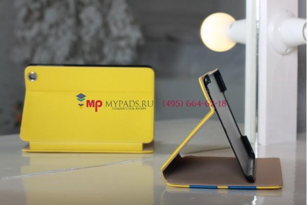 """Чехол для iPad Mini """"тематика автомобиля MINI"""" кожаный желтый"""
