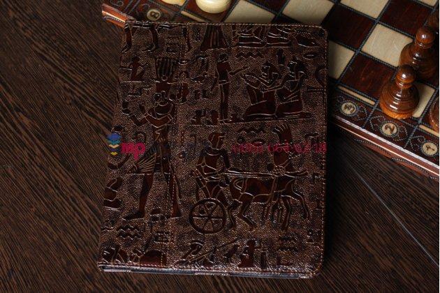 "Чехол-обложка для iPad2/new iPad 3 тематика ""египет"" кожаный"